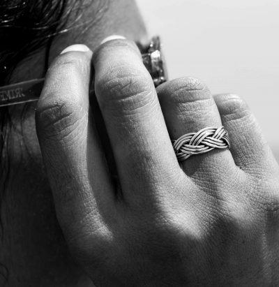 anillo trenza