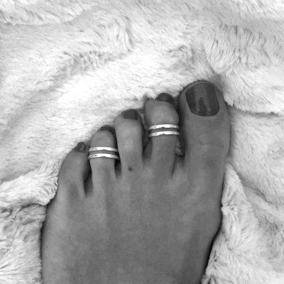 anillo pie doble aro